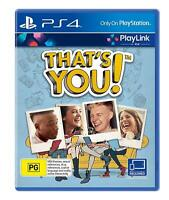 NEW That's You Playstation 4 PS4 Party Playlink BRAND NEW SEALED