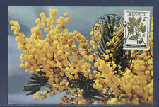 MONACO   carte  1er jour   fleurs  15f  sur 1f    1959