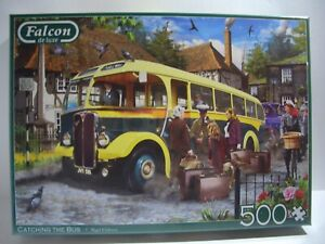 Falcon 500 Piece Sealed Jigsaw Catching The Bus