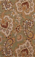 Contemporary Green Floral Oriental Area Rug Hand-Tufted Wool Modern Carpet 3x5