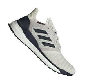 Adidas Solar Boost men's running shoes size 10 raw white/legend ink D97435
