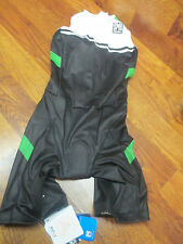 Santini Sms Padded Womens Short Leg Cycling Triathlon Suit Bib Medium Blk Green