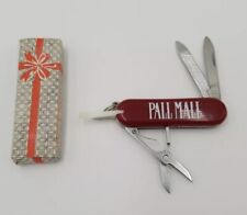 Pall Mall Cigarettes Advertising Multi Function Pocket Knife With Box Vintage