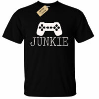 KIDS BOYS GIRLS Junkie Gamer Graphic T-Shirt Nerd Geek gaming tee