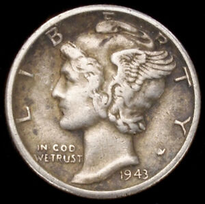 United States 0.90 Silver Mercury Dime 1916 to 1945 (Choose the Year)(GLIC-003J)