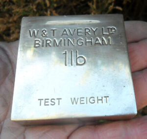 Vintage Avery Brass Test Weight - 1 lb