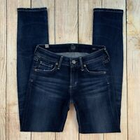 Citizens of Humanity Arielle Mid Rise Slim Skinny Jeans Dark Hewett Wash COH 24