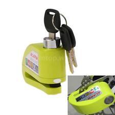 Green Motorcycle Scooter Bicycle Anti-theft Disc Brake Lock Alarm 3 Keys O1L2
