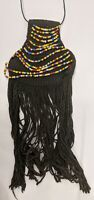AFRICAN JEWELRY CACHE SEX COSTUME LEATHER BEADED KIRDI MODESTY ADORNMENT ETHNIX