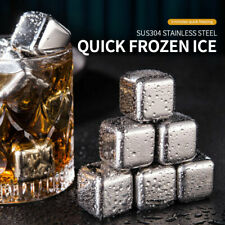 Stainless Steel Ice Cubes Reusable Quick-Frozen Tartar Ice Cooling Stone