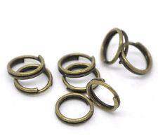 50 Anneaux double de jonction Bronze 6mm, Creation bijoux, colier, .... 6 mm