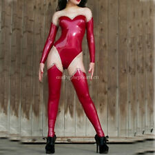 Latex Rubber Gummi Ganzanzug Women Bodysuit Tight Kostüm Catsuit Size XXS-XXL