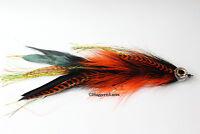 Orange & Black Articulated Muskie, Pike, Big Bass fly
