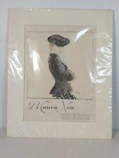 More details for rare suzanne talbot 1935 le chapeau nior sketch, appr.33x41cm