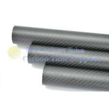 3K CARBON FIBER TUBE OD 38mm X ID 36mm X Length 1000mm Roll Wrapped pipe 38*36