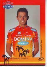 CYCLISME carte cycliste ALESSANDRO CORTINOVIS  équipe DOMINA VACANZE 2005