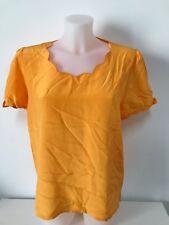 camicia donna seta Ballon gialla italy tag.38 manica corta vintage shirt S56