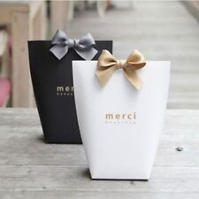 Kraft Paper Bag Present Gift Box For Women Package Party Candy Bags With Ribbon