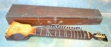 Old Antique Indian Music Instrument Dilruba String Esraj Sitar Guitar With Box