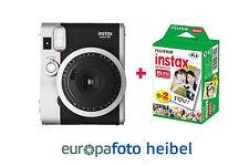 Fujifilm Instax Mini 90 Neo Classic immediatamente immagine Fotocamera Nero con 20 immagini NUOVO