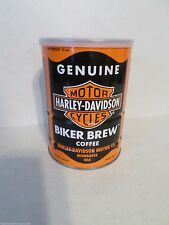Rare Genuine Harley Davidson Motorcycles Biker Brew Coffee Motor Oil Tin Can NOS
