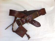 Vintage Leather Military Belt Sam Brown Style Without Shoulder Strap