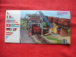 Rare Vintage VOLLMER HO Gauge 1965 66 Leaflet Model Railway Guide Catalogue