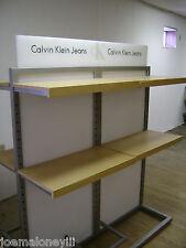 Calvin Klein Jeans Retail Shelving Rack 8 Shelf Clothing Display Rack