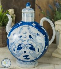 CHINESE PORCELAIN BLUE WHITE MOON FLASK TEAPOT