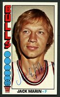 Jack Marin #72 signed autograph auto 1976-77 Topps Basketball Trading Card