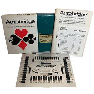 Parker Brothers Autobridge for Beginners. Self-Teaching Bridge. Vintage 70s