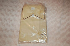 Pyjama vintage Garçon 6 ans beige et liseret marron coton et polyester