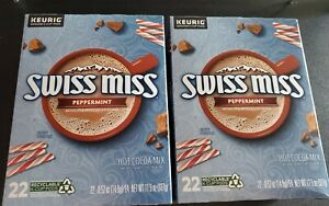 Swiss Miss Peppermint Hot Chocolate Keurig K Cups 22 Ct. X 2 (44 TOTAL) New