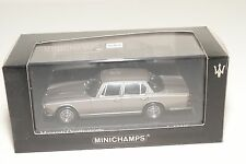 . MINICHAMPS MASERATI QUATTROPORTE 1963 METALLIC GREY MINT BOXED
