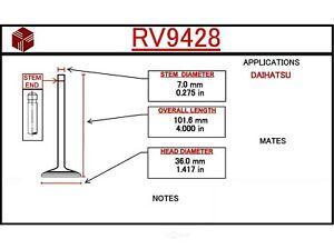 Engine Intake Valve ITM RV9428 fits 1988 Daihatsu Charade 1.0L-L3