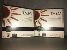 2 Tazo CHAI BLACK TEA Keurig K-Cup Packs16ea=32 Ginger Cinnamon Cardamom Cloves