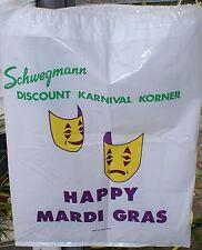 Schwegmann Bros. Super Market Karnival Korner Plastic Bag Vintage New Orleans