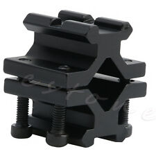 Tactical Double Barrel 20mm Rail Picatinny Weaver Mount for Rifle Bipod Laser