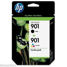 HP N. 901 - 1 BLACK & 1 colore ORIGINAL OEM Cartucce Inkjet Per 4500