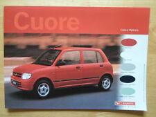 DAIHATSU Cuore orig 2001 UK Market Colours Features & Specifications brochure
