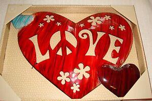 Metal Wall Decor...Hearts...Love