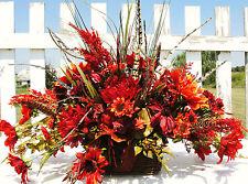 Thanksgiving Floral Silk Table Centerpiece Spray Arrangement Custom /Altar Arrgs