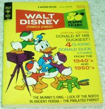 Walt Disney Comics Digest 44, NM- (9.2) 1973 The Mummy's Ring 50% off Guide!