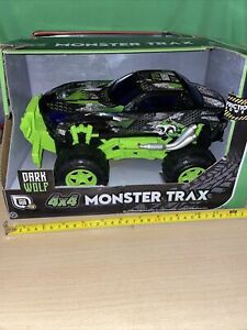 Monster Trax. 4x4 Dark Wolf. Friction Power. Age 3+ - Used in Box