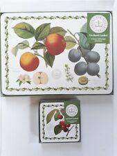 Royal Botanic Gardens Kew 6 Luxury Placemat and Coaster Set Orchard Garden
