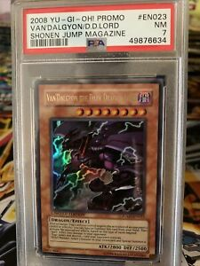 2008 Yugioh Promo Van'Dalgyon the Dark Dragon Lord Jump-EN023 PSA 7