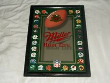 Vintage 1992 Miller High Life NFL Helmets Mirror Beer Sign Football NICE
