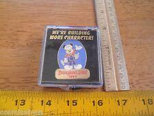 Disneyland Hotel Disney Pin 1999 Were Building More Character! MIB Mickey tools
