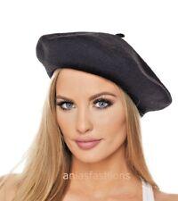 New Plain Colours Wool Beret Hat Ladies Womens Girls Fashion Autumn Winter Cheap