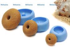 Lot de 3 Moules silicone  gourmand Donut texturé, porcelaine, plâtre, résine..